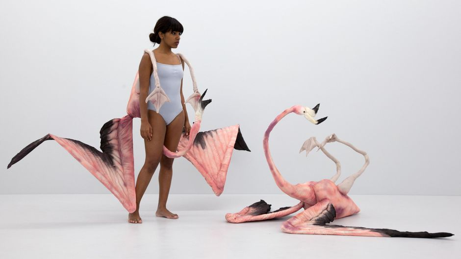 Mary-Audrey Ramirez, Flamingo Fight, 2016, Foto: Julie Wieland, Courtesy the Artist & Galerie MARTINETZ