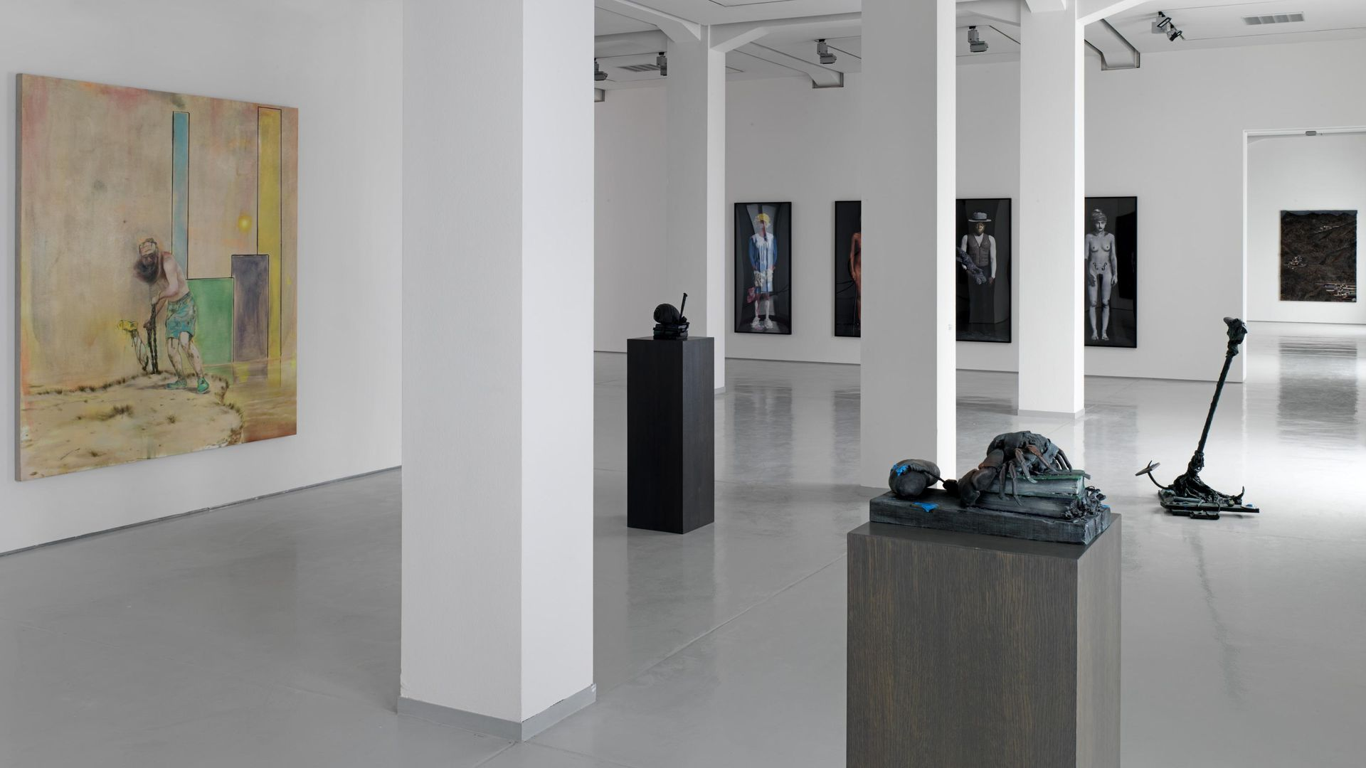 Hidden Stories, works by Nigel Cooke and Olaf Breuning, installation view KAI 10, photograph: © Achim Kukulies, 2012